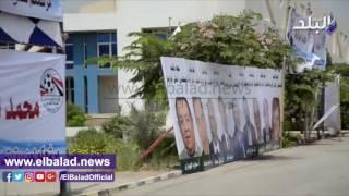 بالفيديو والصور.. بانرات مرشحي انتخابات اتحاد الكرة تزين مدخل الجبلاية