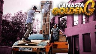 CANASTA GIGANTE ENCIMA DEL GOLDEN G! BALONCESTO ENCIMA DEL COCHE [Salva]