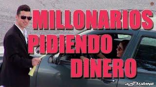 millonarios pidiendo dinero en la calle   just maming   pranks