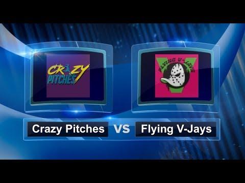 Crazy Pitches vs Flying V-Jays - Quarter Finals - Women's Palm Beach Kickball Open #PBKO2018