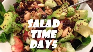 Raw Food Day 5 Salad Time