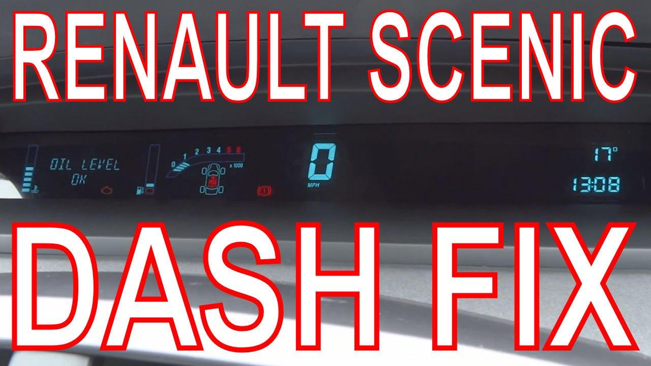Renault Scenic Dashboard Repair Fix Digital Dash Panel