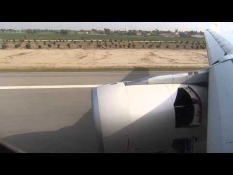 A330-200 Landing at Rahim Yar Khan, Pakistan - Window View