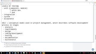 Тестирование Программного Обеспечения - урок №7. Уровни тестирования. Онлайн вебинар.