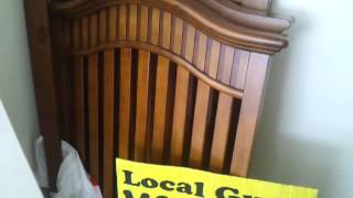 #wnc  For Sale Today: Dark Stain Finish On Solid Wood Baby Crib: In Hendersonville Nc