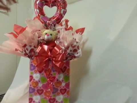 How to Make a Gift Basket Styled Gift Bag - Valentine's Day Gift