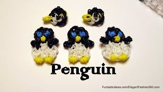 Rainbow Loom Penguin Charm - How to