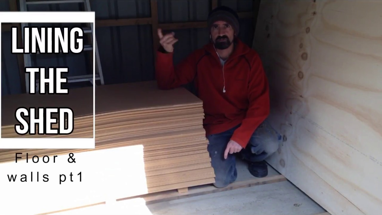 Lining the shed interior part 5 - YouTube