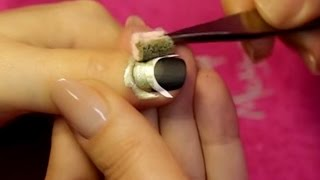 How To Make Xmas Nails - Gold And Matte Black