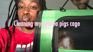 CLEANING MY GUINEA PIG CAGE + tips
