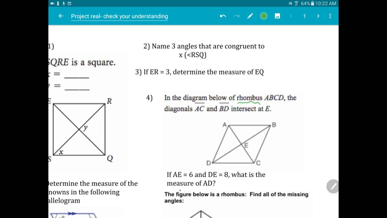 How to find a rhombus side 65