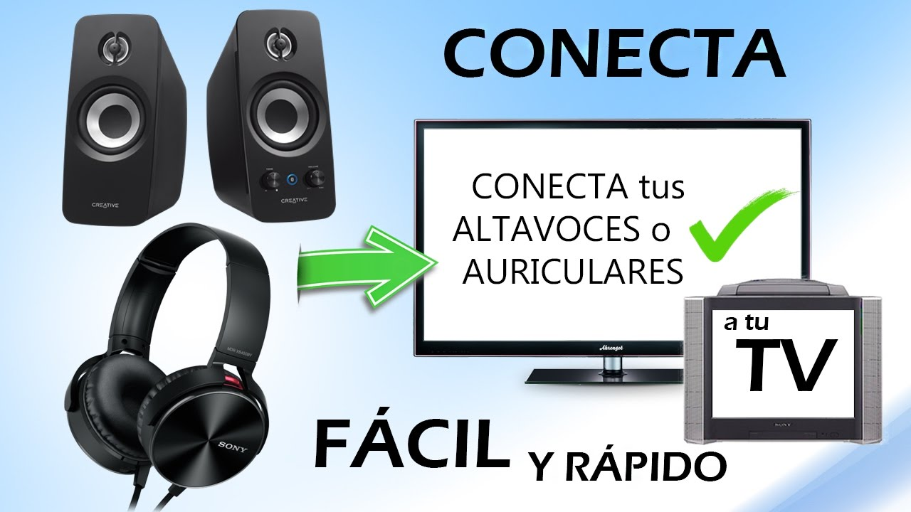 Como conectar altavoces o auriculares a la televisi n - Cable de altavoces ...