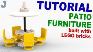 Tutorial - Lego Patio Furniture [cc]