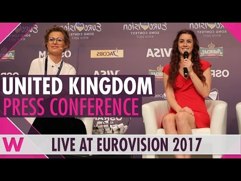 "United Kingdom Press Conference 2 — Lucie Jones ""Never Give Up On You"" Eurovision 2017 