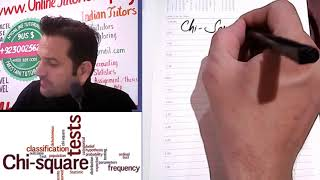 Part 2, Chi square test in Hindi / Urdu, Statistics tutor online, Chi square Distribution