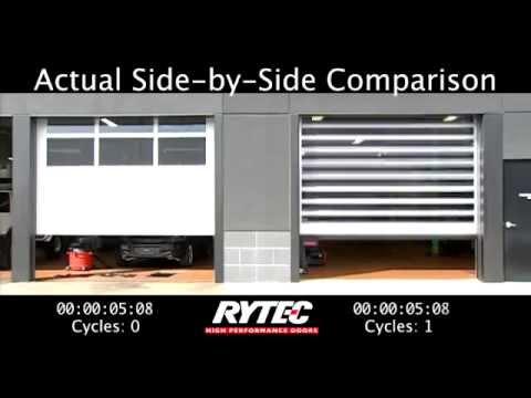 Rytec Spiral FV Door vs Conventional Garage Door & Rytec Spiral FV Door vs Conventional Garage Door - YouTube