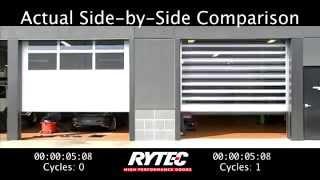 Real World Comparison: Rytec Spiral® FV High-Speed Door vs Conventional Garage Door