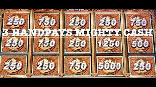 MAX BETS ON MIGHTY CASH ~ (3) HANDPAY JACKPOTS $25 SPINS ONLY LONG TENG HU XIAO NU XIA FULL SCREEN