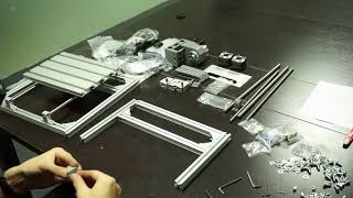CNC2418 assembling video 201707record