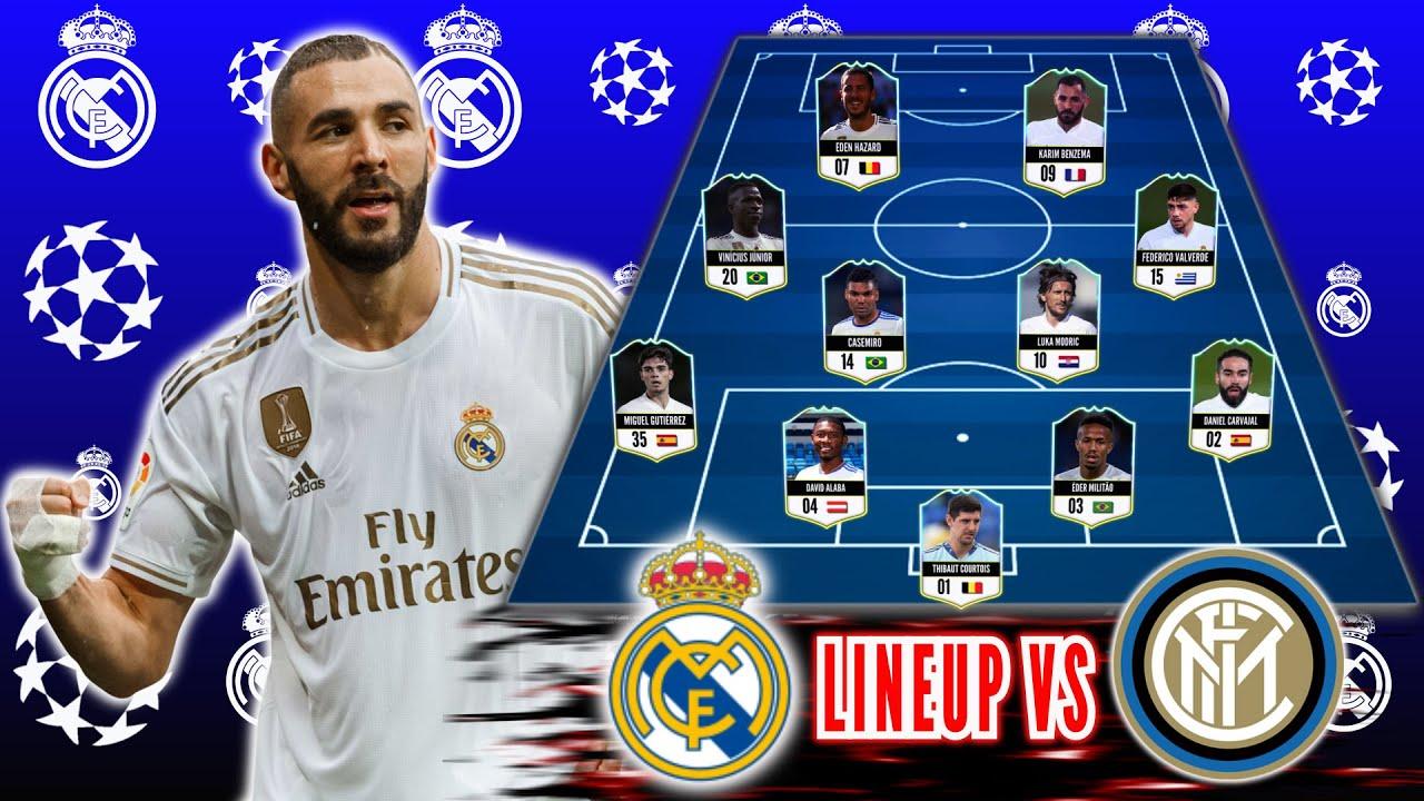 Download Inter Milan vs Real Madrid l Real Madrid Potential Lineup Uefa Champion League Season 2021/22