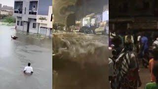 Urgent! Forte pluie à Dakar, Camberene dans les eaux troubles les habitants sans abris dans les rues