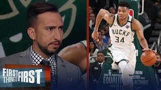 Giannis can say he's best in NBA. Embiid saying it is laughable - Nick | NBA | FIRST THINGS FIRST