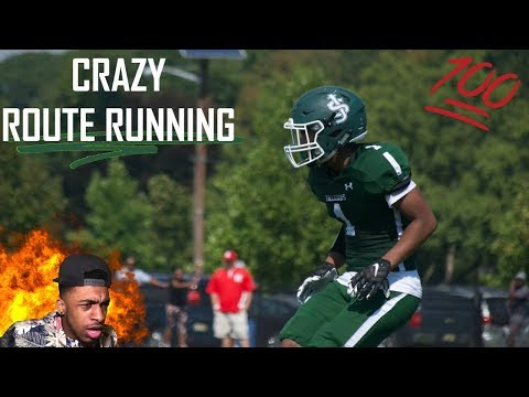 This Guy Has Insane Route Running 😱   Jordan Davis Highlights   Reaction