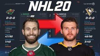 NHL 20 - JASON ZUCKER TO PITTSBURGH TRADE SIMULATION