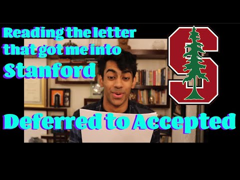 Deferred to Accepted: How I BARELY made it to Stanford | Writing a Letter of Continued Interest