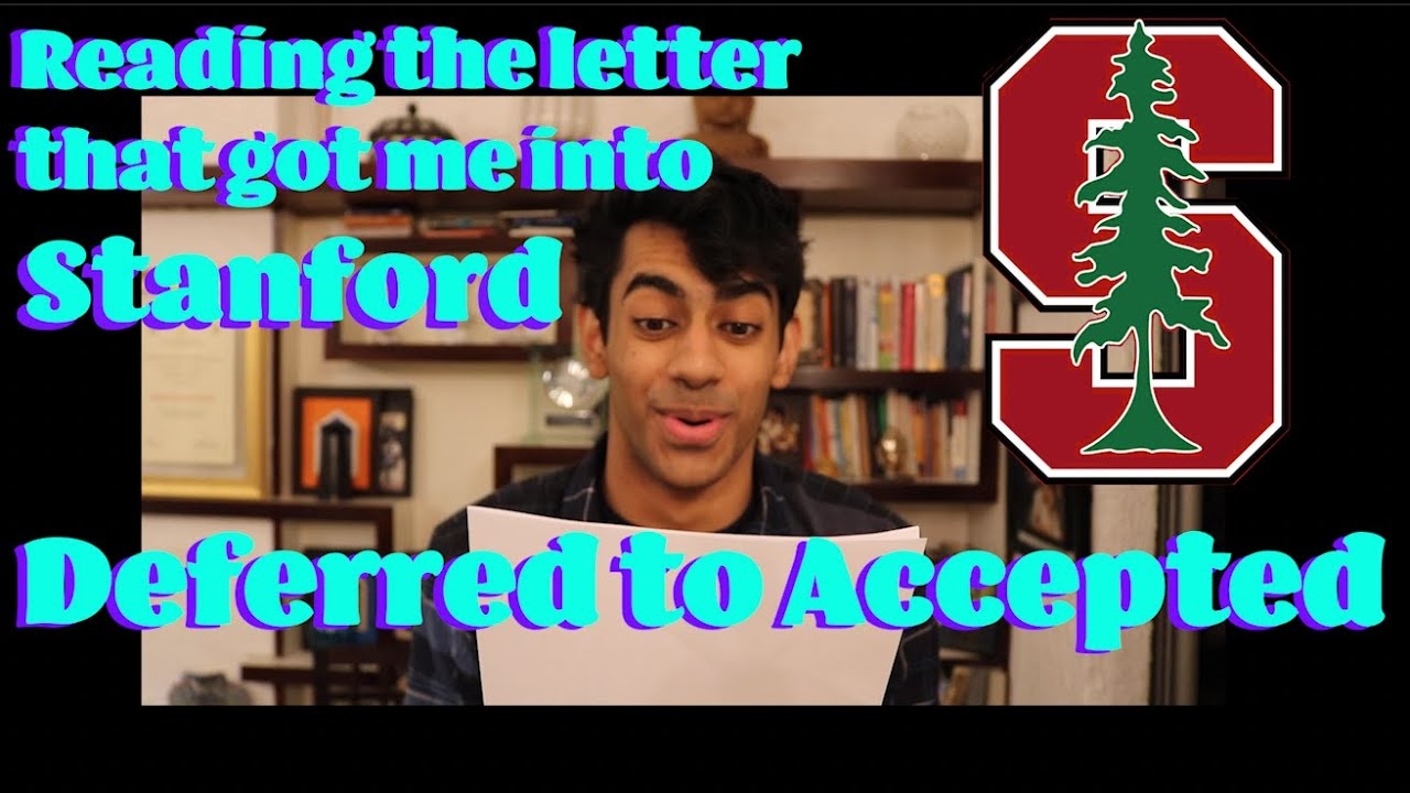 Download Deferred to Accepted: How I BARELY made it to Stanford   Writing a Letter of Continued Interest