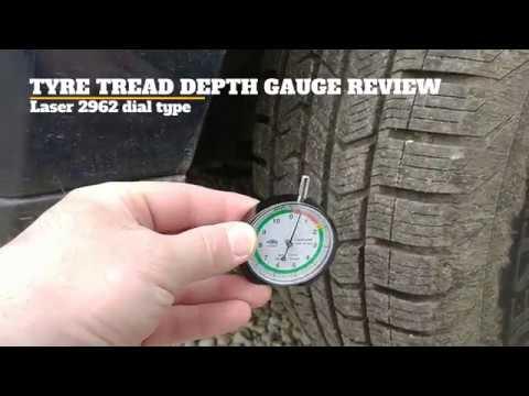 Laser 2962 dial type tyre tread depth gauge review