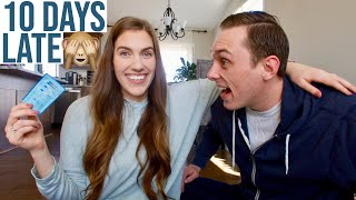 LIVE PREGNANCY TEST I'M 10 DAYS LATE! COULD THIS BE IT??