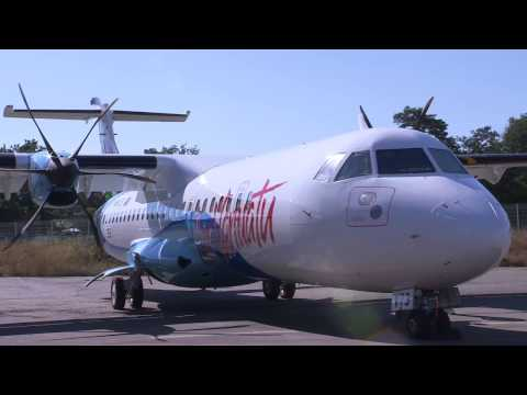 Video of Air Vanuatu's new ATR72-600 aircraft.