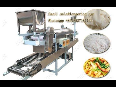 Fresh Rice Noodles Indonesia Vietnam Pho Noodle Making Machine