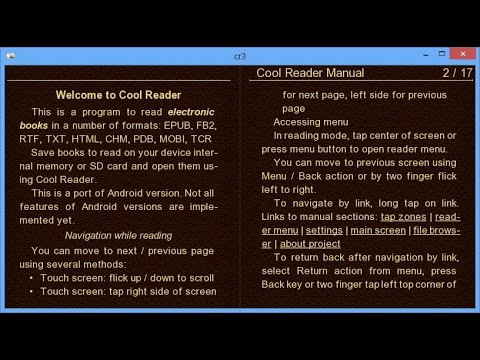 Сool Reader для Windows 8