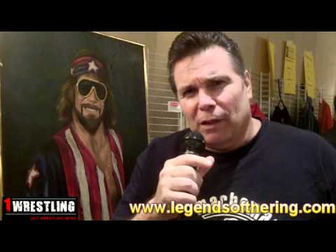 LANNY POFFO WITH OX BAKER & PAYS TRIBUTE TO BROTHER RANDY SAVAGE.wmv