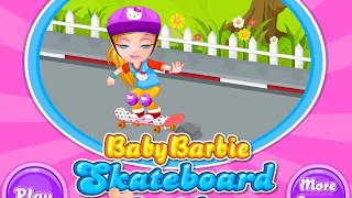 Маленькая Барби и Скейтборд Падение Игра для детей