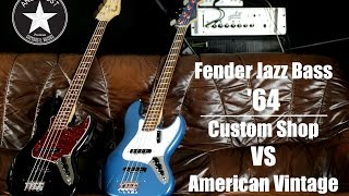 Fender Jazz Bass '64   Custom Shop / American Vintage (Comparison)