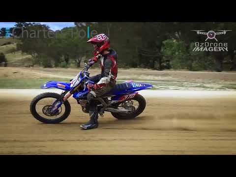 Slow mo Charter's Pole action at Motov8 Flat Track Day