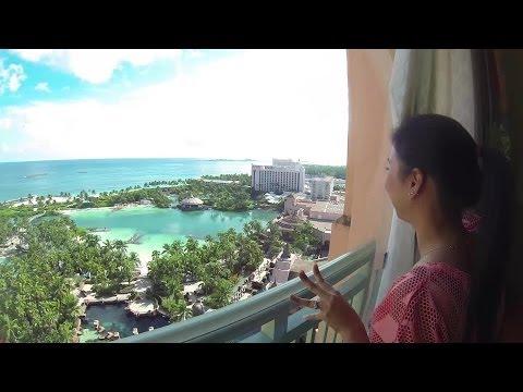 Walking Tour of Atlantis Paradise Island Nassau Bahamas HD