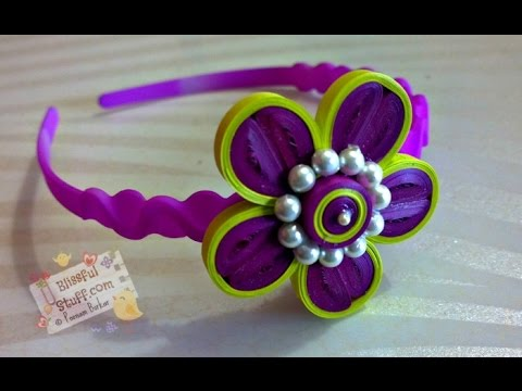Diy how to make paper quilled hair band paper quilling flower diy how to make paper quilled hair band paper quilling flower tutorial mightylinksfo