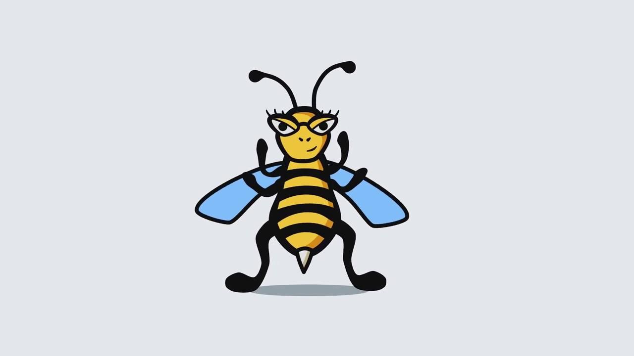 Пчела картинка анимашка