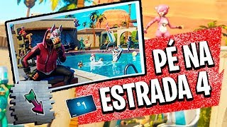 FOOT ON THE ROAD WEEK 4-SECRET MISSION-FORTNITE ‹ VINOK4 › SEASON 5