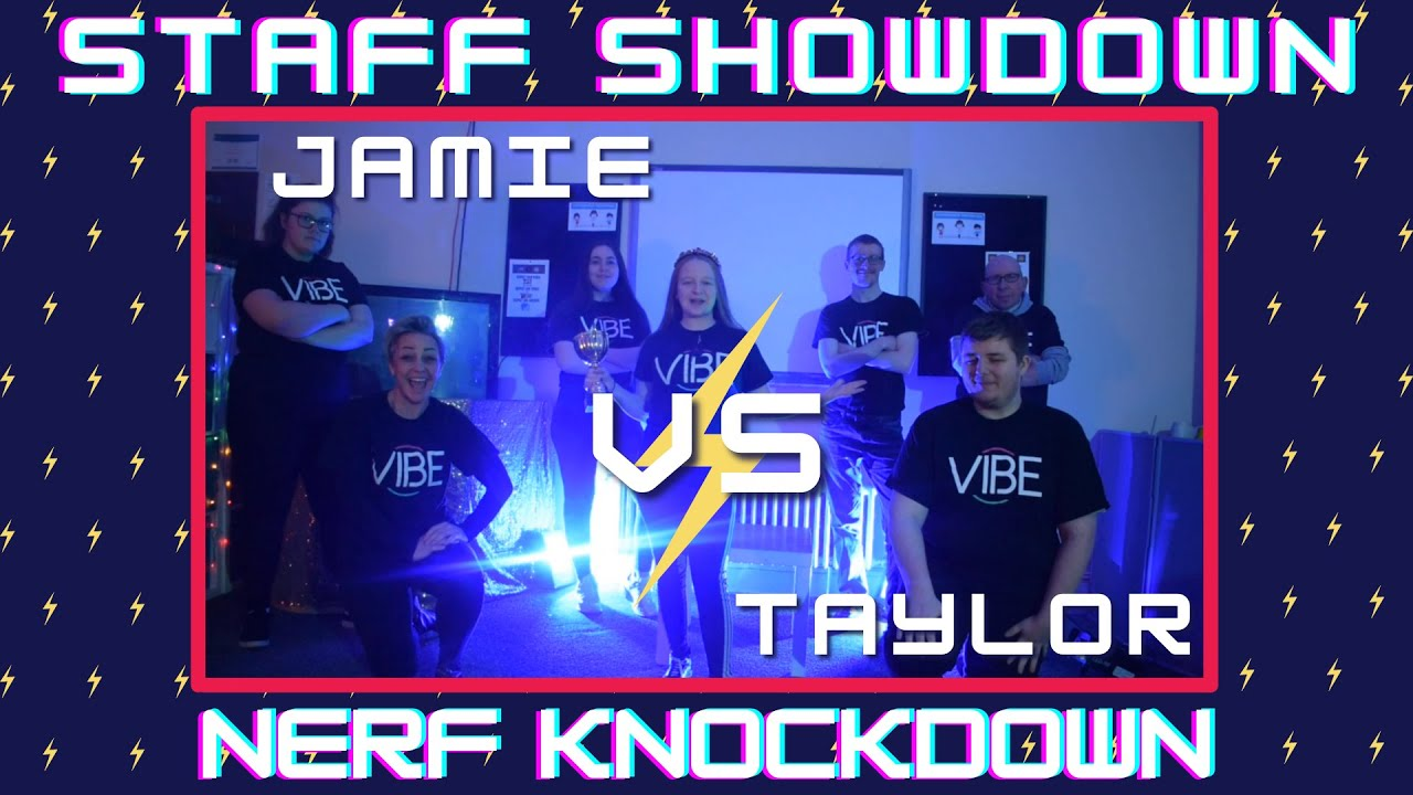 Staff Showdown: Round 2 Nerf Knockdown