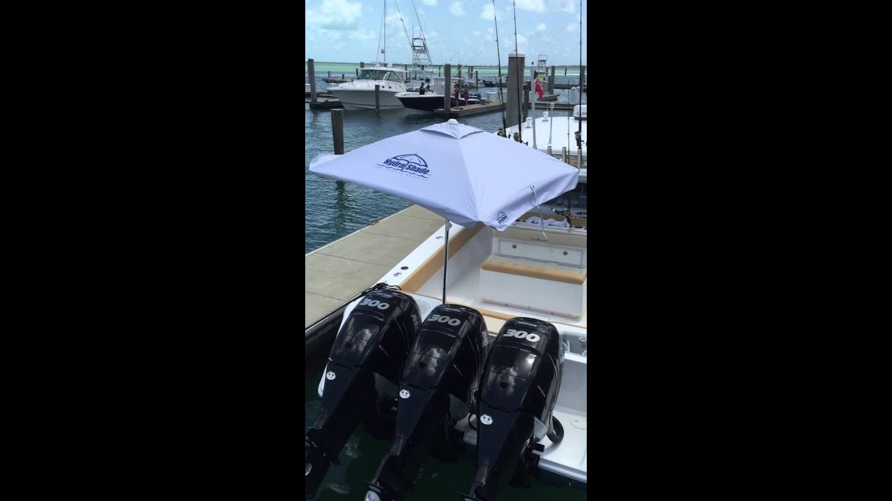 Hydra Shade Xl 100 Marine Boat Umbrella Youtube
