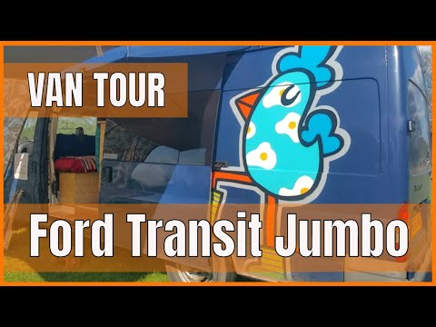 Our Favourite VAN BUILD From Camp Quirky 2019   Ford Transit Jumbo VAN TOUR