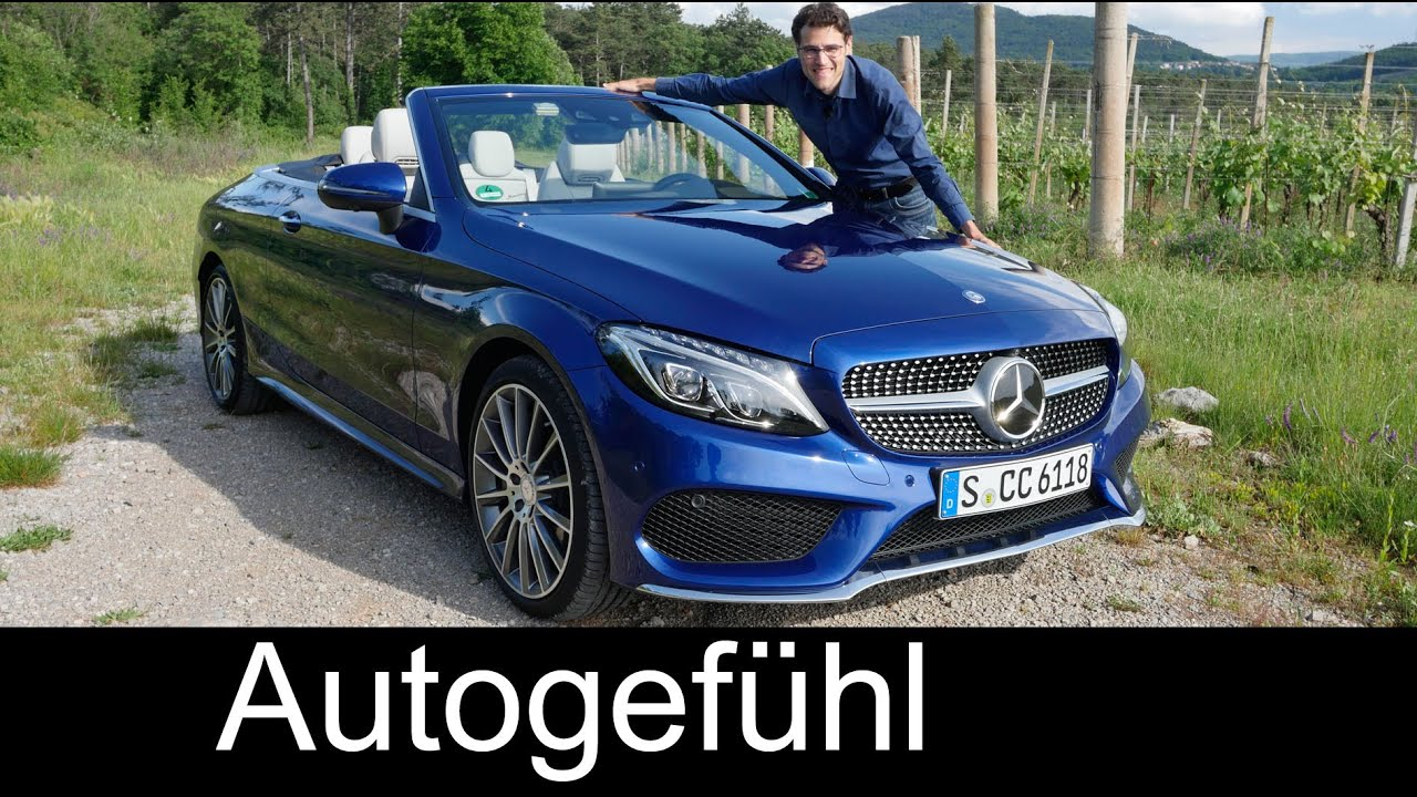 Mercedes C-Class Cabriolet FULL REVIEW test driven C400 C43 C63S C-Klasse all-new neu 2017 2016 ...