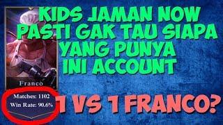 1 vs 1 franco? hmm gimana killnya ya? hahaha jess no limit mobile legends