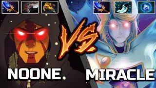 Miracle- Invoker vs. N[o]one Anti-Mage - Godlike 9k MMR Sunstrike Prediction Dota 2