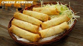 Cheese Kurkure Recipe - Crispy Cheese Finger Rolls CookingShooking